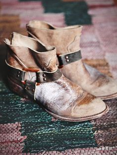 FREEBIRD By Steven Quartz Ankle Boot at Free People Clothing Boutique - to display prominently on the Distressed Utility Bookcase in the bedroom                              #Anthropologie #PinToWin