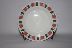 Large Midwinter bowl Piccadilly red black by MillCottageRetro