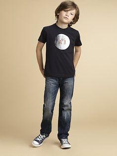 Armani Junior - Boy's Logo Tee - Saks.com