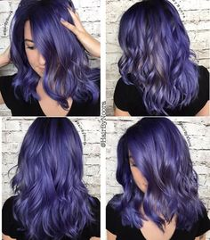 ideas for hair styles men grey internet Bright Hair Colors, Hair Dye Colors, Ombre Hair Color, Silver Blue Hair, Purple Hair, Color Your Hair, Pinterest Hair, Mermaid Hair, Love Hair