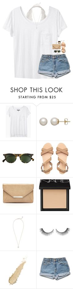 """ivy league tshirts are so cute!"" by classynsouthern ❤ liked on Polyvore featuring rag & bone, Honora, Oliver Peoples, Style & Co., NARS Cosmetics and Kendra Scott"