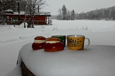 Laskiaispullat, Shrove Tuesday Buns, Winter in Finland. Photo Tiina Kassari