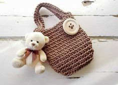 Bags for Girls/ Knitted Bags/ Rope Bags/ Handmade Bags/ Crochet Bags/ Tote/ For Kids/ Summer Handbags/ Baby Bag