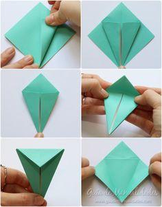 Cómo hacer grullas de origami y armar un móvil - Guía de MANUALIDADES Coasters, Container, Diy, Cards, Ideas Para, Halloween, Creative Ideas, Creativity, How To Make