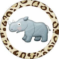 Fazendo a Propria Festa: KIT DE PERSONALIZADOS TEMA SAFARI Safari Party, Jungle Party, Jungle Safari, Jungle Animals, Baby Party, Jungle Theme Cakes, Jungle Theme Birthday, Birthday Party Themes, Baby Shawer