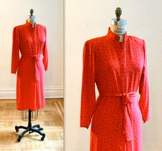 Hey, I found this really awesome Etsy listing at https://www.etsy.com/listing/158605679/80s-vintage-red-silk-dress-size-medium