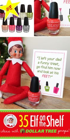 Terrific Images BRAND NEW Creative & Funny Elf on the Shelf Ideas with Dollar Tree props! Suggestions 55 BRAND NEW Creative & Funny Elf on the Shelf Ideas with Dollar Tree props! – Prank – Prank m Christmas Pranks, Funny Christmas Photos, Christmas Activities, Christmas Printables, Elf On The Self, The Elf, Album Design, Christmas Elf, Christmas Humor