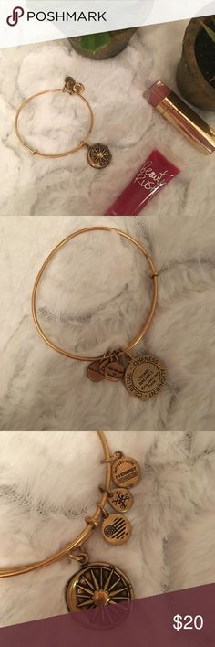 "NWOT Alex & Ani ""Cosmic Balance"" Gold Bangle Stay balanced with this beautiful gold bangle from Alex & Ani, featuring a moon and sun combined. Perfect for stacking with other Alex & Ani bangles! BRAND NEW, NEVER WORN with no flaws or signs of wear. 🌺  ✨If you have questions, please review my closet policies or feel free to ask!  ✨Reasonable offers welcome!  ✨15% off bundles of 2 or more!  ✨Look for items in my closet with a 🌴 for high end designers at great prices! Alex & Ani Jewelry…"