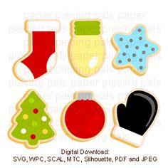 Baking christmas Cookies for Santa. SVG cut file.