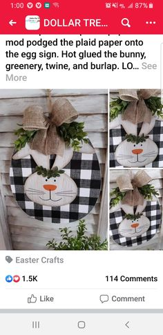 Easter Specials, Diy Easter Decorations, Dollar Tree Crafts, Spring Has Sprung, Easter Crafts, Dollar Stores, Easter Bunny, Twine, Bunnies