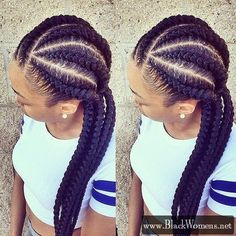 Outstanding Jumbo Cornrow Braids Are A Thing Check Out 12 Women Rocking Out Hairstyle Inspiration Daily Dogsangcom