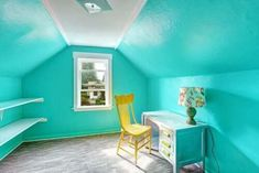 How to make homemade lamps to decorate your room? Turquoise Bedroom Paint, Turquoise Painting, Choose Your Own Story, Episode Choose Your Story, My New Room, My Room, Homemade Lamps, Space Painting, Painting Tips