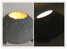 Luminária de cimento