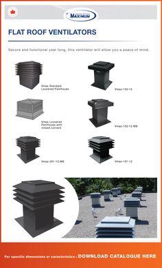 Product information for Flat Roof Ventilator Model #101