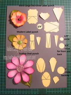 Paper Flowers made with punched by Lori Schwaderer