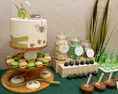 Australian themed creepy crawly party dessert table by Darling Details. I love an Australiana theme, Im feeling all patriotic!