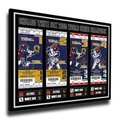 Chicago White Sox 2005 World Series Champions Tickets To History Canvas Print - $69.99