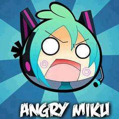 Angry Miku >o< Miku Chan, Literature Club, Hatsune Miku, Inventions, Otaku, Chibi, Fan Art, Manga, Funny