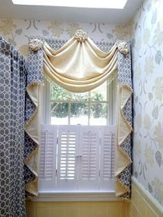 Bathroom window decor elegant window treatments home design ideas pictures remodel and decor bathroom window drapery Bathroom Window Decor, Bathroom Window Dressing, Bathroom Window Coverings, Window In Shower, Bathroom Windows, Bathroom Shower Curtains, Window Curtains, Master Bathroom, Bed Drapes