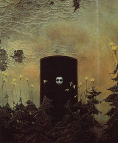 Surrealism and Visionary art: Zdzislaw Beksinski Arte Horror, Horror Art, Art And Illustration, Art Macabre, Art Sinistre, Art Visionnaire, Art Noir, Illustrator, Arte Obscura