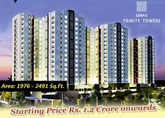 Gera Trinity Towers | Area: 1976 - 2491 Sq.Ft. | Starting Price Rs. 1.2 Crore onwards  Get More Info Call (+91) 9555666555
