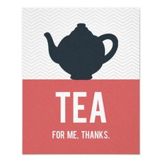 Tea Typography Poster, modern Kitchen, Custom