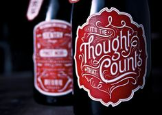 """It's the Thought that Counts"" Pinot Noir by No Entry Design // Back Label Detail : ""Merry F***ing Christmas"" Ha!"