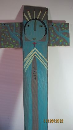 Mose Tolliver Paintings | Mose Tolliver Cross/Crucifix