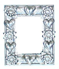 "MIRROR W/ HEARTS & FLOWERS LG 16"" x 20"""