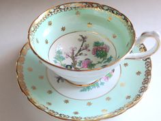 Westbrook Tea Cup and Saucer, English Bone China Cups, Tea Set, Antique Tea Cups, English Teacups, Yellow Tea Cups, Pink Roses Cups by AprilsLuxuries on Etsy