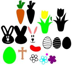 FREE SVG File – Easter & Spring – Egg, Bunny, Carrot, Cross, Flower, Jelly Bean | Miss Vickie's CuttingCrazy Blog