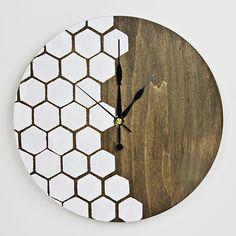 diy wall clocks 137922807321461506 - Make Your Own: Honeycomb DIY Wall Clock Source by Clock Art, Diy Clock, Handmade Wall Clocks, Diy Wall Clocks, Wall Clock Wooden, Wall Watch, Kitchen Wall Clocks, Displays, Cool Clocks