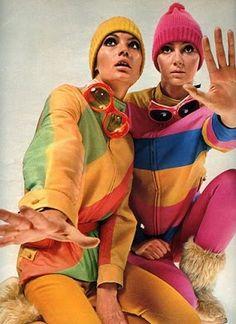 Ski et snowboard pas cher Sixties Fashion, Ski Fashion, Sport Fashion, Retro Fashion, Vintage Fashion, Winter Fashion, Vintage Glam, Look Vintage, Vintage Versace