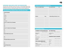 Free Printables | Free Printable Family Medical History Forms by Gerda