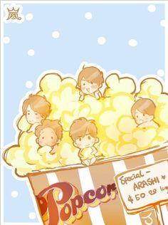 Super Cute Fanart of Arashi-Popcorn :3 (Credit to Owner)