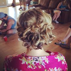 Special occasion Bridesmaids updo done by me | flagstaff wedding | classy updo with curls | hair by Michelle M.