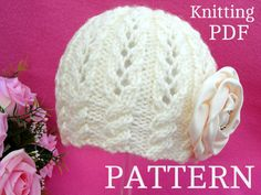 Knitting PATTERN Baby Girl Hat Beanie Knit Baby Hat ♡ by Solnishko43