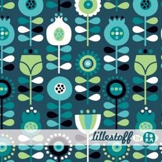Scandi Flowers Lillestoff Euro Knit Fabric : Banberry Place, Kids Knit Fabrics::Euro Fabric::Indie Sewing Patterns::Novelty Woven Ribbon