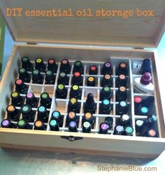 How do I store essential oils? DIY boxes and more.