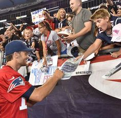When you get Tom Brady's autograph!
