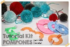Hacer Pompones de lana con un Kit