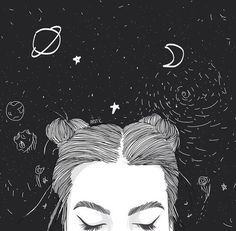 grunge black and white photoshop Tumblr Drawings, Art Drawings, Space Drawings, Drawing Art, Tumblr Outline, Illustration Mode, Tumblr Girls, Art Inspo, Cool Art
