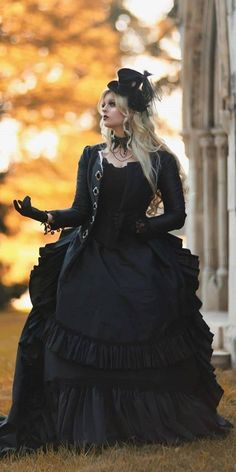 24 Gothic Wedding Dresses: Challenging Traditions ❤ gothic wedding dresses ball gown victorian with sleeves black romantic threads #weddingforward #wedding #bride