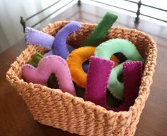 Easy to make felt letters to help your child practice spelling, phonics & letter identification
