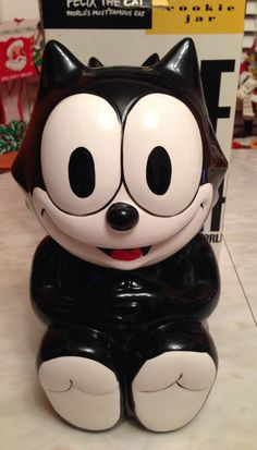 Vintage 1990s Felix the Cat Cookie Jar with Box by JeanniesWishes, $42.00