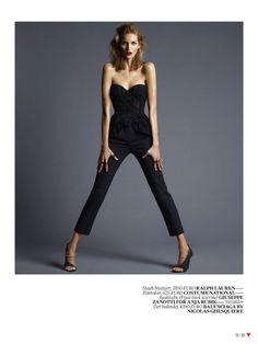 nice Vogue Turquia | Editorial de Moda Abril 2013 | Anja Rubik por Cuneyt Akeroglu