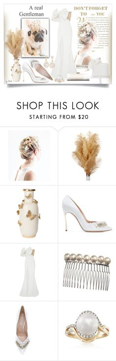 """""""SemTítulo"""" by dehti ❤ liked on Polyvore featuring Luxo, Casadei, Rachel Gilbert and Amanda Pearl"""