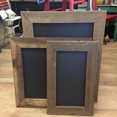 Old Frames with Chalkboard paint! Love it!