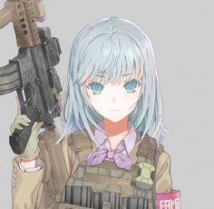 Soldier guns