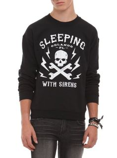 Amazon.com: Sleeping With Sirens Skull Pullover: Clothing